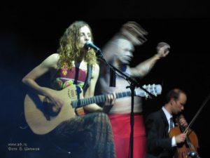 Ольга Арефьева и «Ковчег». Фотографии с акустического концерта в ЦДХ 18 июня 2006. Фото Бориса Шитикова