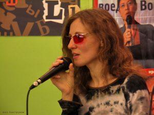 Ольга Арефьева на презентации своей книги. Фото: Анна Чугунова