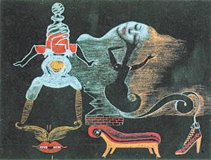 Сначала - смерть, потом - приключения... А.Бретон, Т.Тзара, В.Хьюго, Г.Кнутсен. Изысканный труп. 1933 г. Музей современного искусства. Нью-Йорк