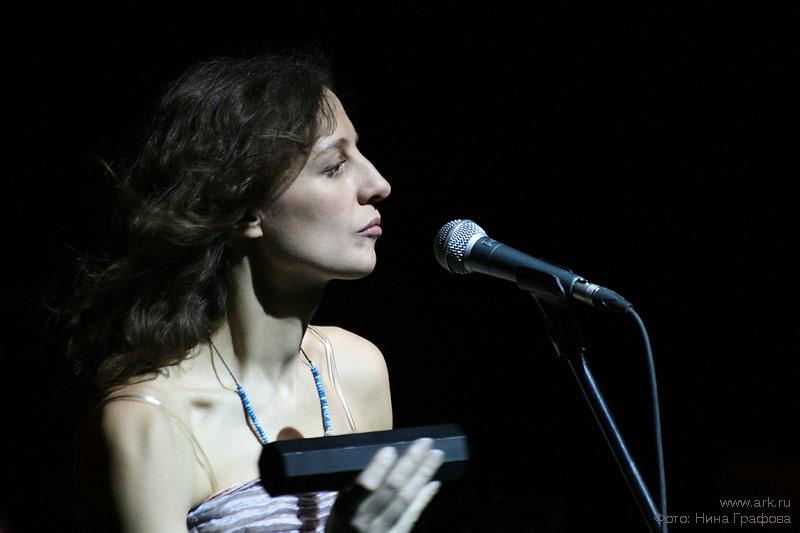 Ольга Арефьева и «Ковчег». Фотографии с акустического концерта в ЦДХ (Москва) 29 ноября 2009. Фото Нины Графовой.