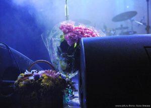 """Ольга Арефьева и """"Ковчег"""". Концерт в клубе """"Б2"""" (Москва) 8 мая 2014. Фото Лолы Левовой."""