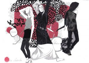 Ольга Арефьева и Ковчег - концерт в Санкт-Петербурге в клубе ''Зал ожидания'' 5 апреля 2015. Уланги (живые записовки с натуры) Людмилы Лунц.