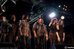 Ольга Арефьева и Ковчег - концерт в Санкт-Петербурге в клубе ''Зал ожидания'' 5 апреля 2015. Фото Терри Уильямса.