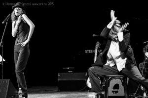 """Ольга Арефьева и """"Кабаре-Ковчег"""". Концерт в Санкт-Петербурге, КЗ """"У Финляндского"""", 4 октября 2015. Фото: Сергей Копанский"""