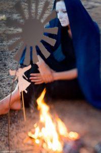 "Ольга Арефьева. Съёмки клипа ""Пускай мне приснится птица"". Фото: Надежда Бабушкина"