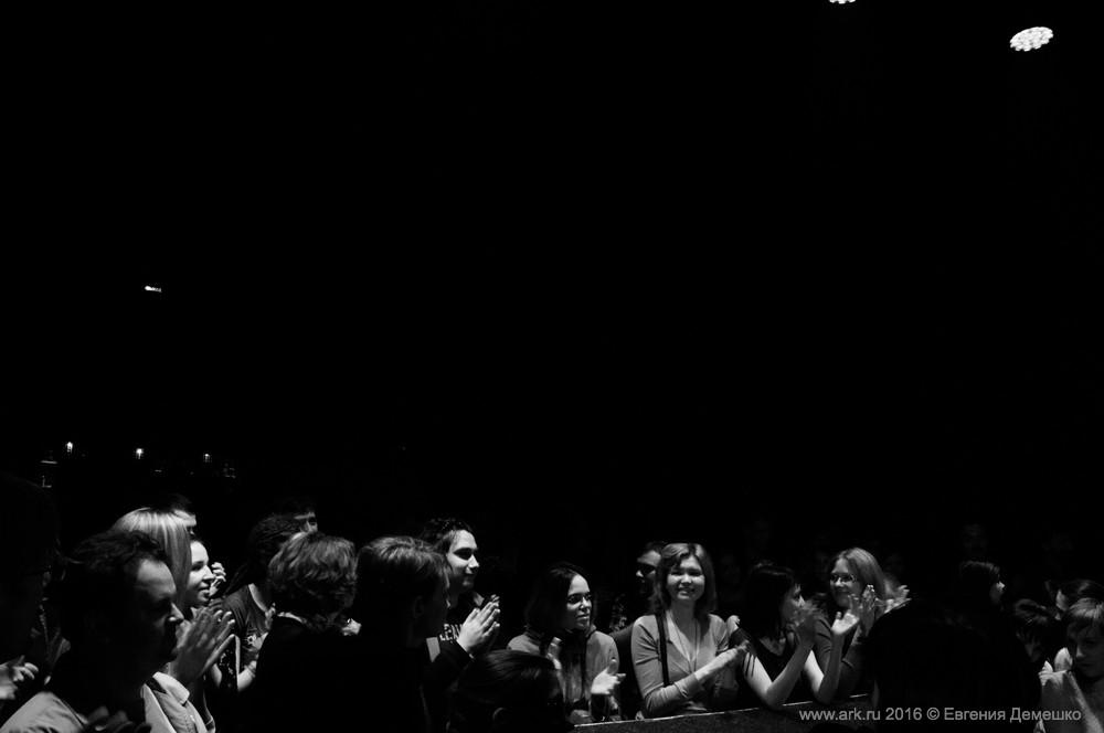 """Ольга Арефьева и """"Кабаре-Ковчег"""". Концерт в Санкт-Петербурге, клуб Кубрик, 17 апреля 2016. Фото: Евгения Демешко"""