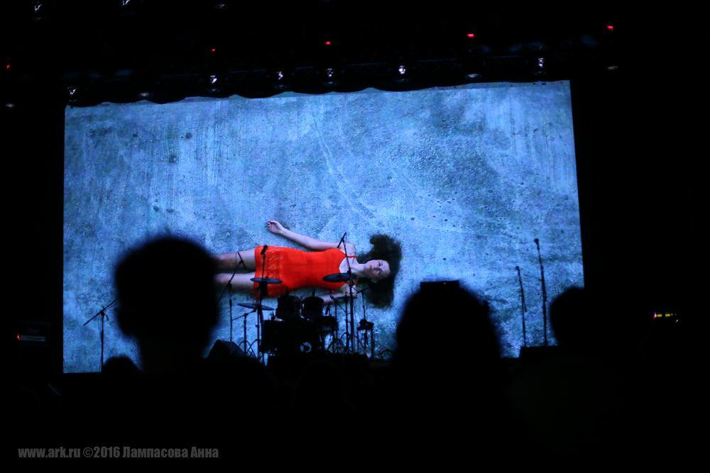 """Ольга Арефьева и """"Ковчег"""". Концерт в YotaSpace 22 мая 2016. Фото: Анна Лампасова"""