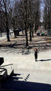 Ольга Арефьева в Берлине, апрель 2018. Фото: Елена Калагина