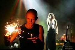 Ольга Арефьева и «Ковчег». Фото с электрического концерта в Киеве (Дом офицеров) 28 октября 2007. Фото polia