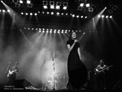 Ольга Арефьева и «Ковчег». Фото с электрического концерта в Киеве (Дом офицеров) 28 октября 2007. Фото Антона Прокопенко