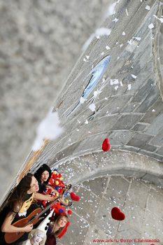 Клип Ольги Арефьевой ''Жонглер'': как это было.  Фоторепортаж Екатерины Беляковой