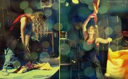 """Ольга Арефьева и «Ковчег». Фотографии с электрического концерта в клубе """"Орландина"""" (Санкт-Петербург) 18 октября 2009. Фото Mono Lena"""