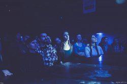 """Ольга Арефьева и Ковчег - концерт в Тюмени, клуб """"Байконур"""", 11 марта 2015. Фото Алексея Миллера."""