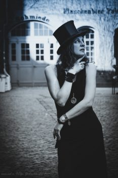 Ольга Арефьева в Берлине, 7 апреля 2018. Фото: Elya Yalonetski